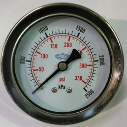 Pressure Gauge  63mm Rear Entry  02500 kPa Stainless Steel