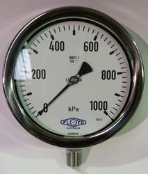Pressure Gauge   160mm Bottom Entry   01000 kPa Stainless Steel
