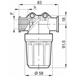 ProMinent Sample Water Filter with Connections for DGMa